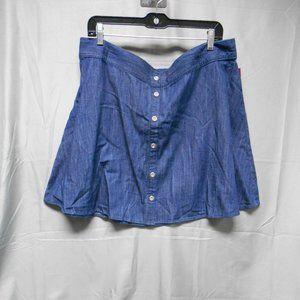 NWT Merona denim knee length skirt womens size XL